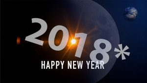 Happy New Year Karte für 2018